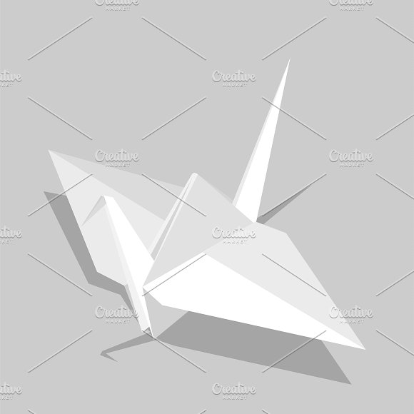 Vector Of Paper Bird Icon