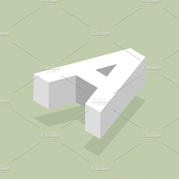 Vector Image Of A Alphabet Letter