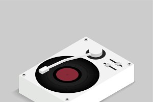 Vector icon of music turntable