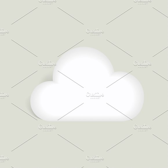 Vector Icon Of Storage Cloud