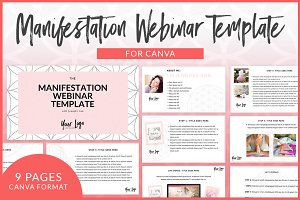 Manifestation Webinar CANVA Template