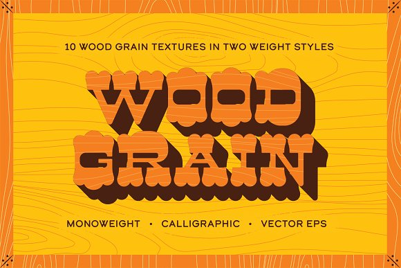 Woodgrain Vector Texture Pack