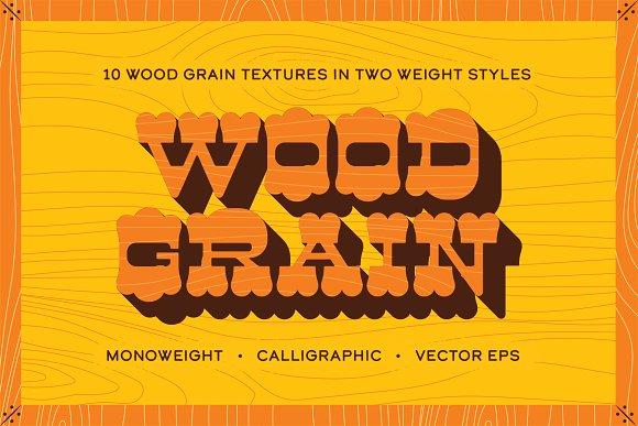 Woodgrain Vector Texture Pack