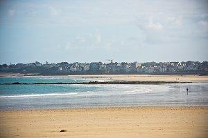 Sand beach in Saint Malo, Brittany