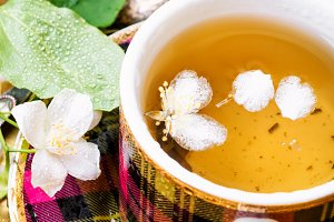 Herbal tea with jasmine