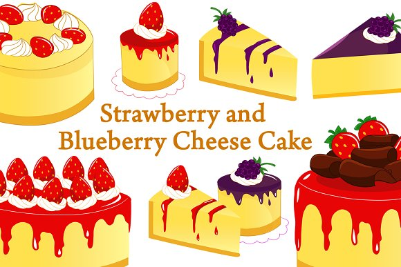 Strawberry And Blueberry Cheese Cake