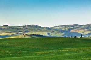 Outdoor Tuscan Hills Landscape