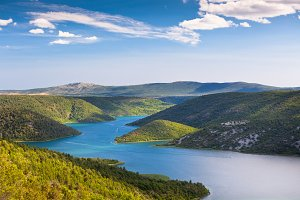 The Krka river, Croatia