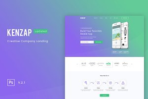 Kenzap Creative Company Landing PSD