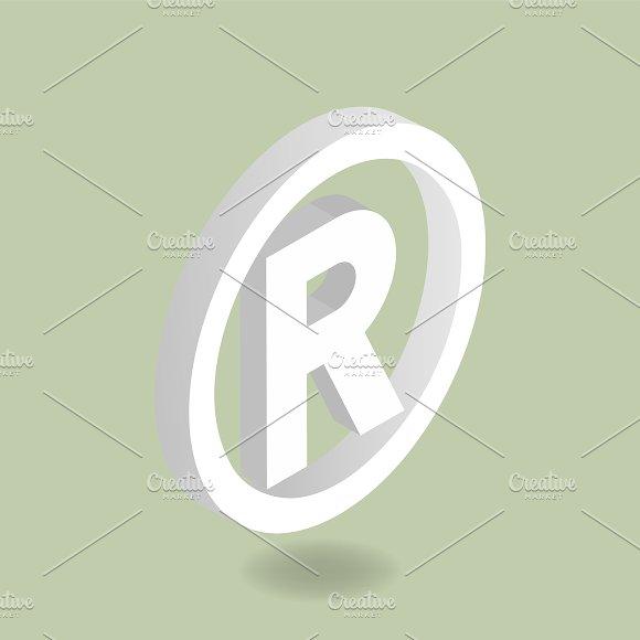 Vector Image Of Trademark Icon