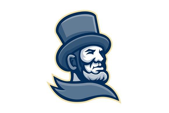 Abraham Lincoln Head Mascot