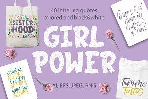 Girl Power - lettering set