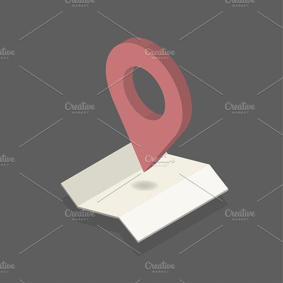 Vector Of GPS Navigation Icon