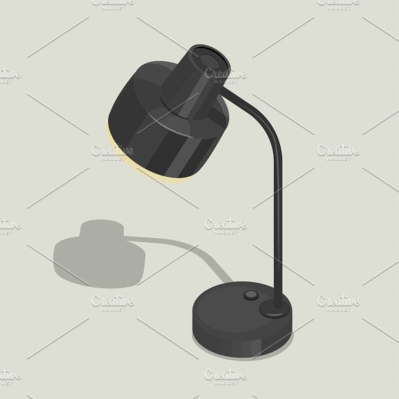 Vector Of Black Lamp Icon