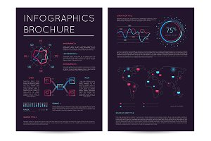 Commercial report with various infographics