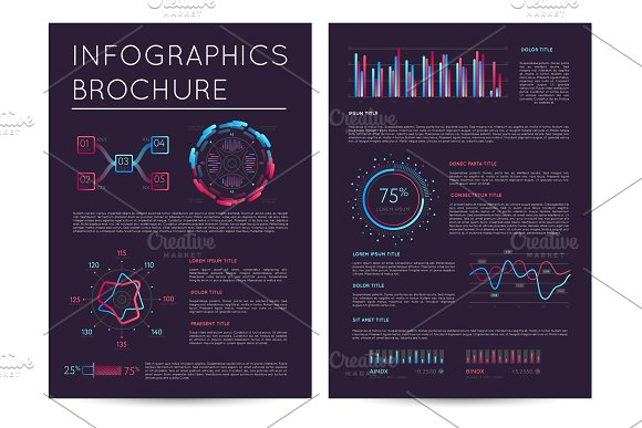 Business Presentation Template With Infographics
