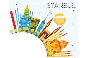 Istanbul Turkey City Skyline
