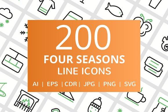 200 Four Seasons Line Icons