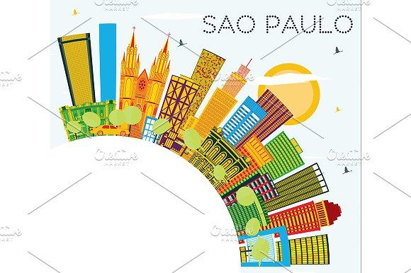 Sao Paulo Brazil City Skyline