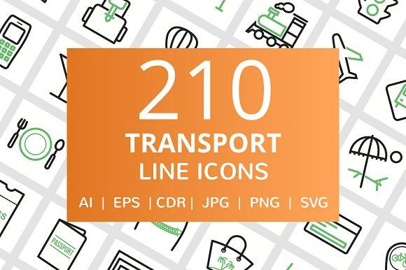 210 Transport Line Icons