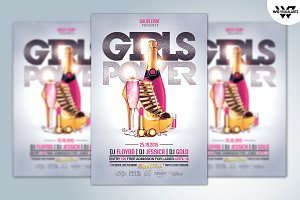 Girl Woman Flyer Template