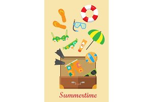 Summertime Banner. Things Necessary for Rest.