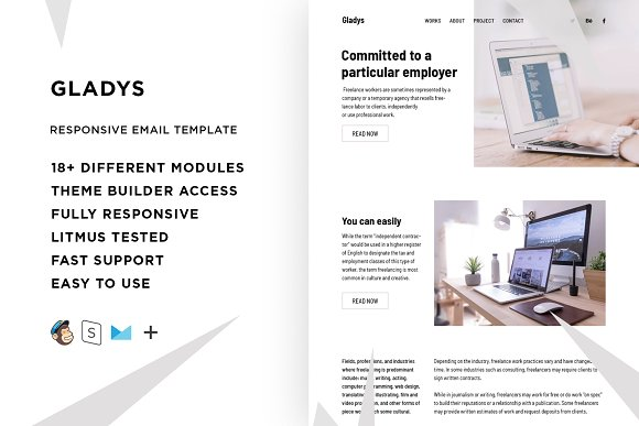 Gladys Email Template Builder