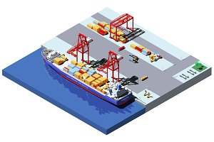 Vector isometric cargo port