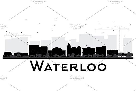 Waterloo Iowa City Skyline