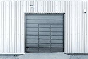 Modern garage or warehouse doors
