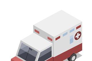 Vector of 3D ambulance icon