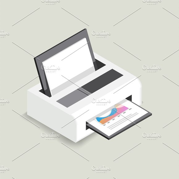 Vector Icon Of Printer