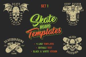 Skateboard templates