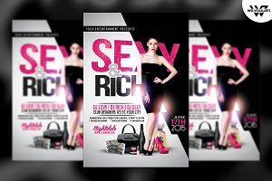 SEXY & RICH Flyer Template