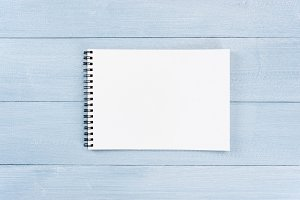 Blank sheet of opened notepad