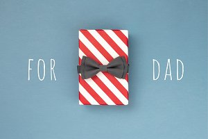 Gift box with the bow tie.