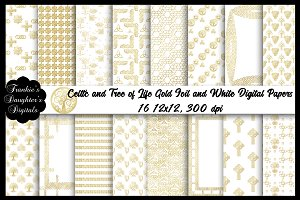 Gold Foil Celtic/Tree of Life Papers