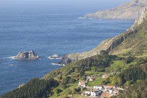 View of San Andres de Teixido,