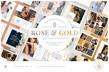 ROSE & GOLD Animated Instagram Pack