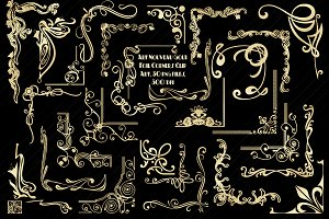 Art Nouveau Gold Foil Corners
