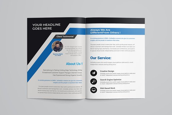 Business Bifold Brochure in Brochure Templates - product preview 2