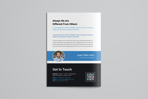 Business Bifold Brochure in Brochure Templates - product preview 4