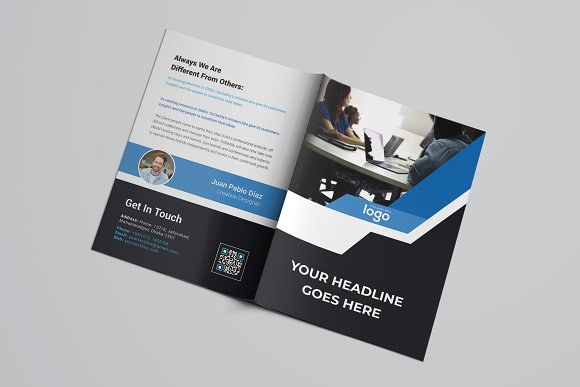 Business Bifold Brochure in Brochure Templates - product preview 5