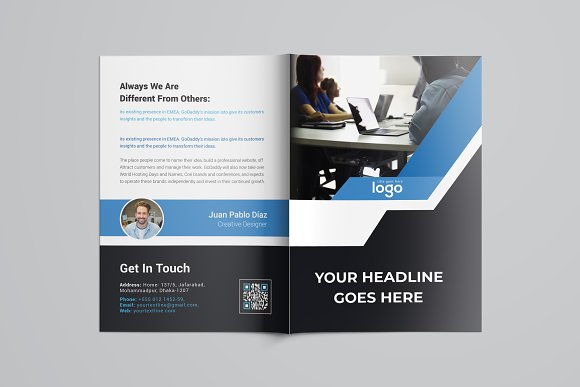 Business Bifold Brochure in Brochure Templates - product preview 7
