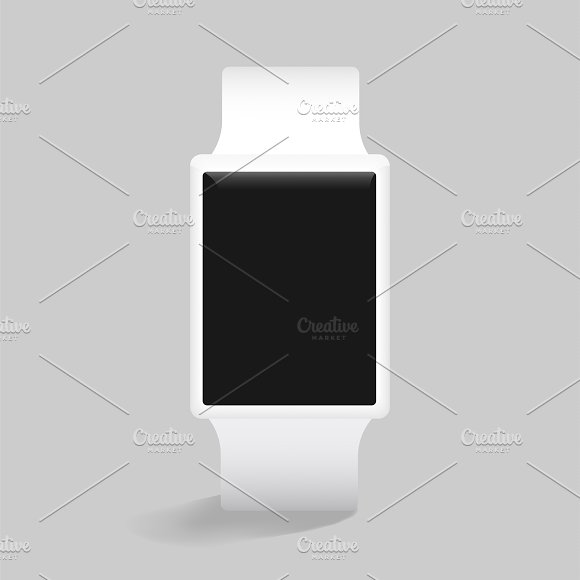 Vector Icon Of Smart Watch Mockup