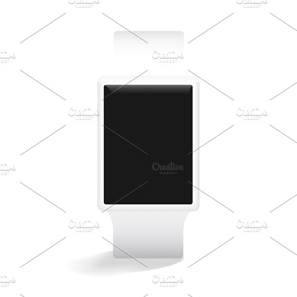 Vector Icon Of Smart Watch Mockup