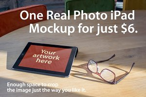Real Photo iPad Mockup