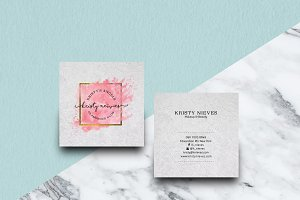 Feminine Square Business Card