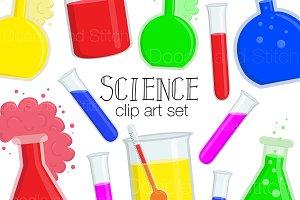 Science Clipart Illustration Set