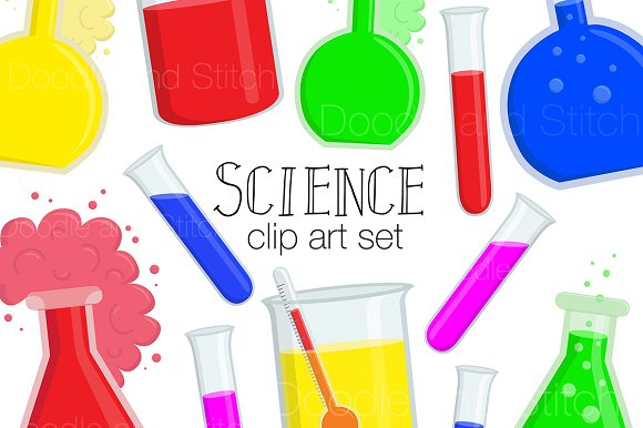 Science Clipart Illustration Set